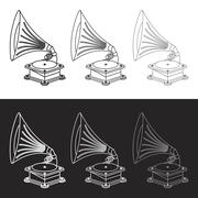 Vector old gramophone in eps Stock Illustration