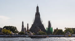 Bangkok Wat Arun River Stock Footage