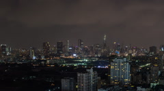 Bangkok City at Night - stock footage