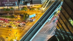 Bangkok Traffic from Above Stock Footage