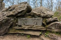 Appalachian Trail Registry Box - stock photo