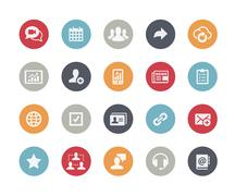 Business Network Icons -- Classics Series - stock illustration