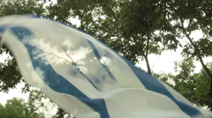 Israel israeli flag wave jewish jew 1 Stock Footage