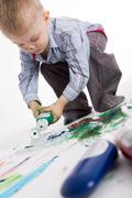 Young craftsman - stock photo