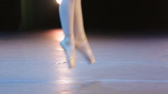 Ballet feet stage Stock Footage