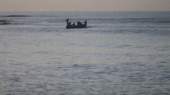 Haitian boat going out to sea - stock footage