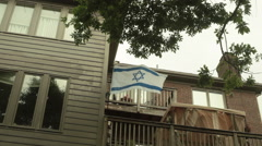 Israel israeli flag wave jewish jew 2 Stock Footage