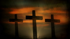 Sunrise Cross - stock footage