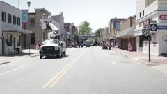 Bucket truck in action Stock Footage
