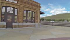 Missoula Train Station Stock Footage
