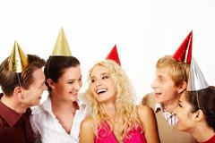 Joyful company - stock photo