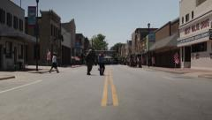 Smal town with empty street Stock Footage