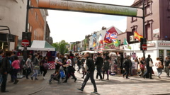 Inverness Street Market Camden Town Stock Footage