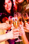 Toast for friendship - stock photo
