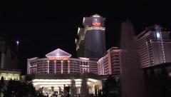 Caesar's Palace Font View (Las Vegas) - stock footage