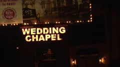 Stock Video Footage of Las Vegas Wedding Chapel