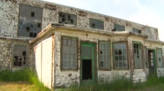 Abandoned WWII hangar Stock Footage