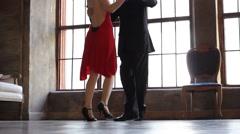 Tango dancers foot Stock Footage