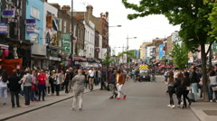 Crowdy Camden Town on weekends - stock footage