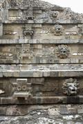 Carvings on Temple of Quetzalcoatl Stock Photos