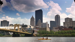 Pittsburgh Daytime Establishing Shot Stock Footage