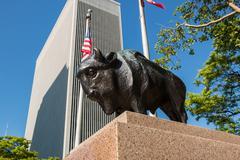 Buffalo Statue One M&T Plaza Stock Photos