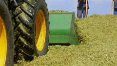 People working to make silage corn Stock Footage