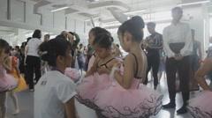 Ballet rehearsal timelapse Stock Footage