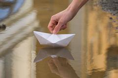 Toy sail Stock Photos