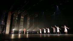 Ballet rehersal stage Stock Footage