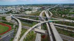 Aerial highway I95 Miami 4k 2 Stock Footage
