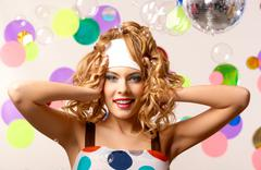 Joyful girl Stock Photos