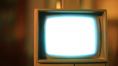 Old tv flashing tvfuzz Stock Footage