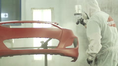 Clear Coating Slow Motion - stock footage