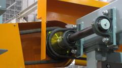 GEAR powered chain Machine Stock Footage