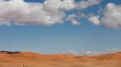 4k erg chebbi dune sand sahara desert morocco merzouga Stock Footage