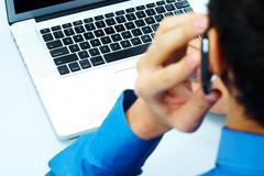 Using telecommunications Stock Photos