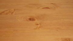 Wooden table background Stock Footage