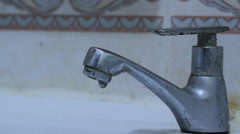 Dripping faucets Stock Footage