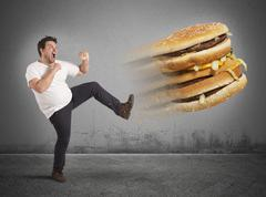 Kick  to calories - stock photo