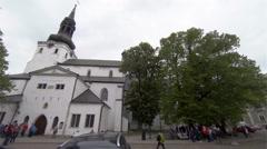 The church, temple in the Old Tallinn. Estonia. Stock Footage
