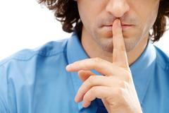Stock Photo of Shhh