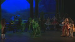 Ballet sleeping beauty stage Stock Footage
