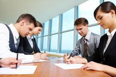 Group work Stock Photos