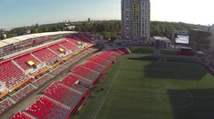 Aerial of Ottawa's TD Place - Empty Stadium - 2015 FIFA Women's World Cup - stock footage