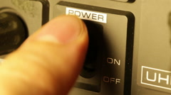 Power off and on switch Stock Footage
