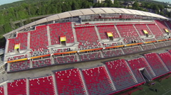 Aerial of Ottawa's TD Place - Empty Stadium - 2015 FIFA Women's World Cup Stock Footage