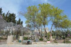 Gan Hapaamon park in Jerusalem, Israel - stock photo