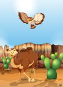 Camel - stock illustration