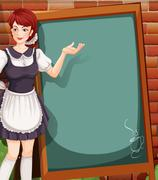 Waitress - stock illustration